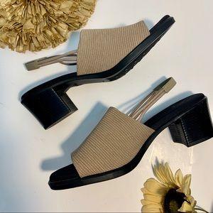 Lifestride New Tan Sling Back Sandals Size 10